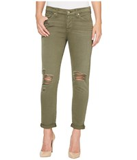 7 For All Mankind Josefina Jeans W Destroy In Olive Olive Women's Jeans