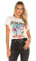 Daydreamer The Police North American Tour Weekend Tee In White. Vintage White