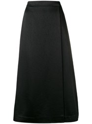 Theory Cropped Apron Culottes Black