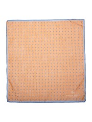 Chester Barrie Spot Patterned Pocket Square Orange