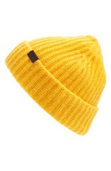 Hickey Freeman Men's Cuffed Cashmere Beanie Metallic Gold