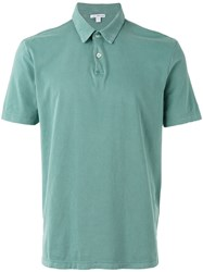 James Perse Classic Polo Shirt Green