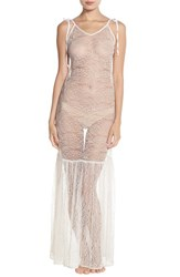 Women's For Love And Lemons 'Isabelle' Sheer Lace Nightgown Ivory
