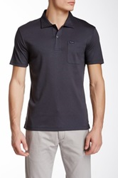 Faconnable Club Fit Short Sleeve Polo Gray