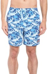 Vineyard Vines Chappy School Of Tuna Swim Trunks Moonshine