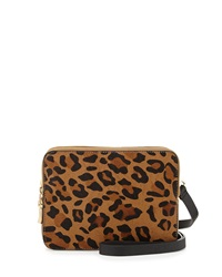 French Connection Cosmic Small Calfhair Crossbody Bag Leopard