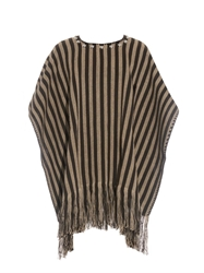 Saint Laurent Striped Western Poncho