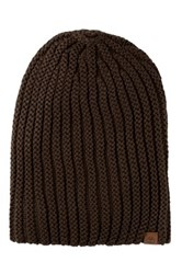Timberland Chunky Slouchy Knit Beanie Brown