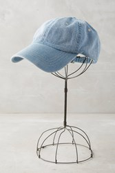 Anthropologie Denim Baseball Cap Blue