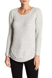 Papillon Scoop Knit Sweater White
