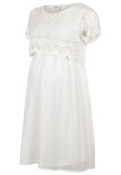 Mama Licious Mlolive Cocktail Dress Party Dress Snow White Off White