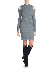 1.State Long Sleeve Mockneck Cold Shoulder Dress Concrete Heather