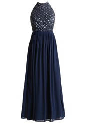 Lace And Beads Dymonte Occasion Wear Navy Dark Blue