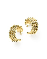 Temple St. Clair 18K Yellow Gold Vigna Hoop Earrings
