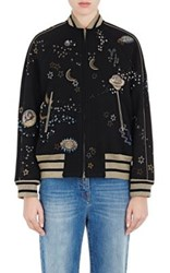 Valentino Women's Astro Couture Embellished Bomber Jacket No Color