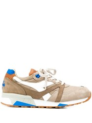 Diadora Contrasting Panel Sneakers Neutrals