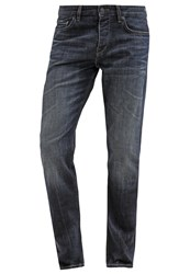 Boss Orange Straight Leg Jeans Navy Blue