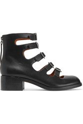 Marc By Marc Jacobs Cutout Buckled Leather Ankle Boots Black