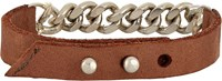 Loren Stewart Leather And Chain Bracelet Brown