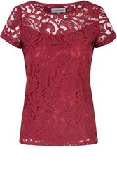 Alice And You Lace Layer Tee Burgundy