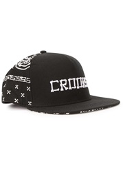 Crooks And Castles Bone Black Embroidered Twill Cap
