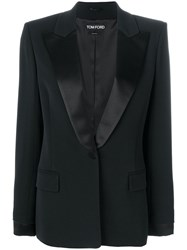 Tom Ford Tuxedo Single Breasted Blazer Black