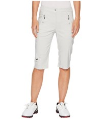 Jamie Sadock Fly Front Knee Capris Filament Grey Women's Capri White