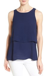 Women's Bobeau Tiered Sleeveless Top Navy