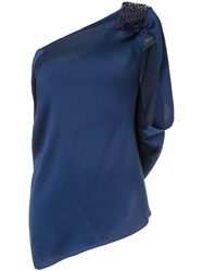 Roland Mouret Heartwell Asymmetric Top Blue