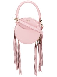 Salar Fringed Small Tote Bag Pink And Purple