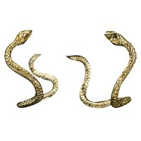 Brass Fusion Brass Snake Hoop Earrings