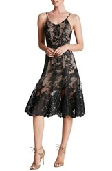 Women's Dress The Population Corded Embroidered Lace Fit And Flare Dress