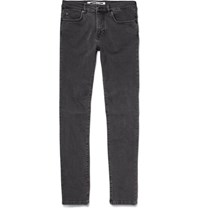Mcq By Alexander Mcqueen Swallow Skinny Fit Stretch Denim Jeans Charcoal