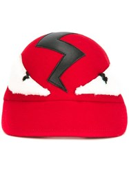 Fendi Bag Bugs Baseball Cap Red
