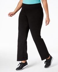 Ideology Plus Size Flex Stretch Active Yoga Pants Created For Macy's Black