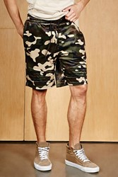Forever 21 Cayler And Sons Velvet Camo Shorts Olive