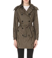 Burberry The Balmoral Technical Taffeta Trench Coat Military Olive