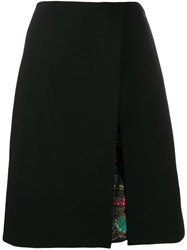 Etro A Line Skirt With Front Slit Black
