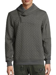 G Star Long Sleeve Chevron Pullover Medium Grey