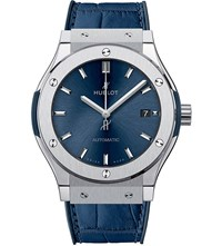 Hublot 511.Nx.7170.Lr Classic Fusion Leather Watch Sapphire