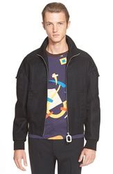 J.W.Anderson High Neck Flight Jacket Black