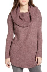 Dreamers By Debut Cowl Neck Tunic Dark Plum