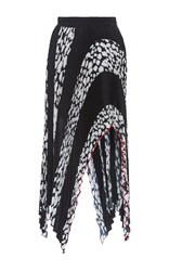 Proenza Schouler Arched Asymmetrical Hem Pleated Skirt Print