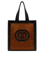 Gucci Ophidia Medium Suede Tote Brown Multi