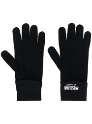 Moschino Logo Knitted Gloves 60