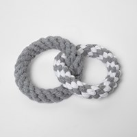 River Island Womens Grey Ri Dog Ring Rope Toy