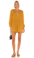 Cleobella Maya Mini Dress In Yellow. Mustard