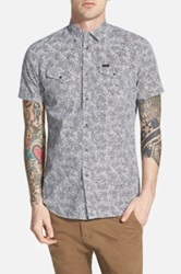 Diesel 'Sulfo' Extra Trim Fit Short Sleeve Paisley Print Woven Shirt White