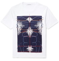 Craig Green Slim Fit Embroidered Panelled Cotton Jersey T Shirt White