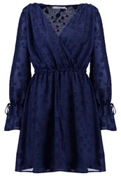 Oh My Love Optunia Summer Dress Navy Dark Blue